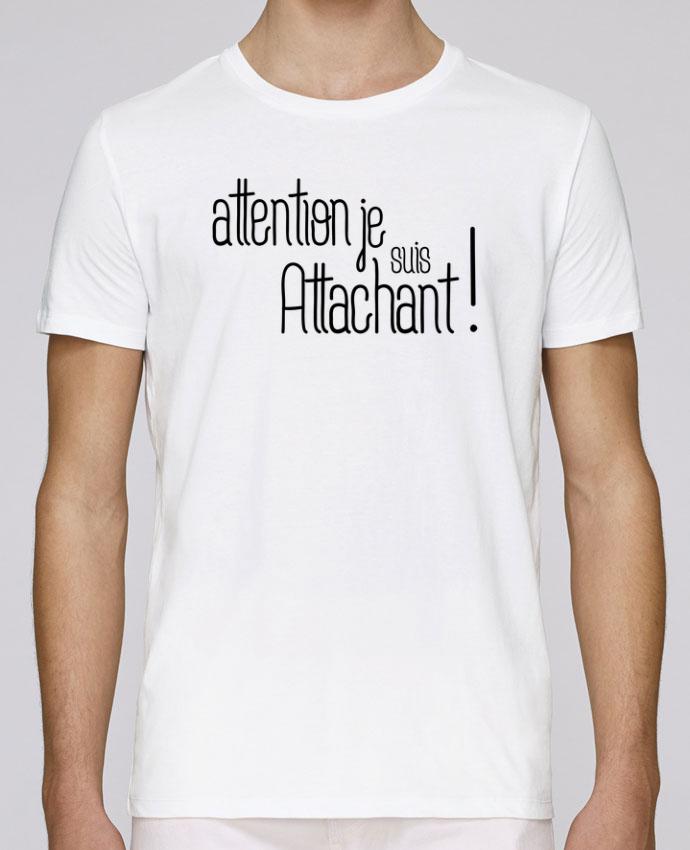 T-Shirt Col Rond Stanley Leads Attention je suis attachant ! par tunetoo