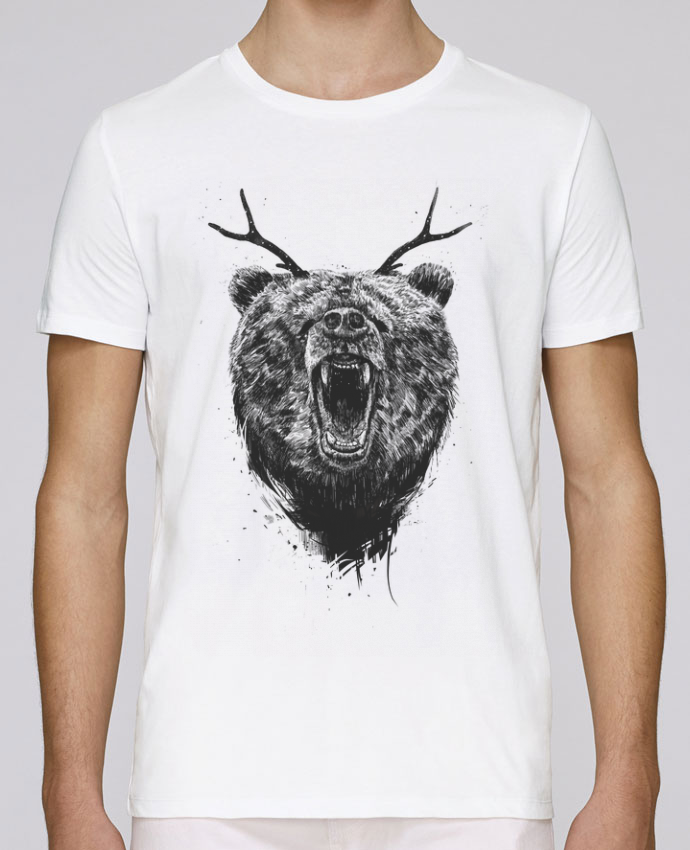 T-Shirt Col Rond Stanley Leads Angry bear with antlers par Balàzs Solti