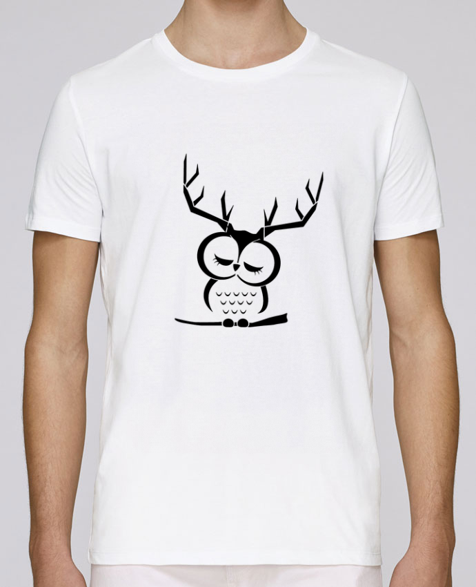 T-Shirt Col Rond Stanley Leads Hibou cerf par Ikare
