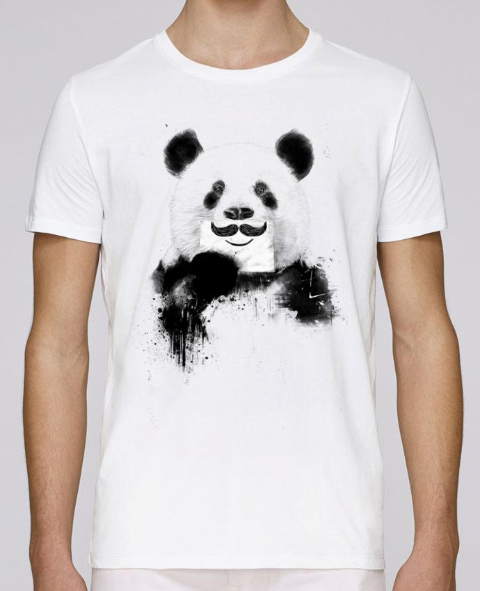 T-Shirt Col Rond Stanley Leads Funny Panda par Balàzs Solti