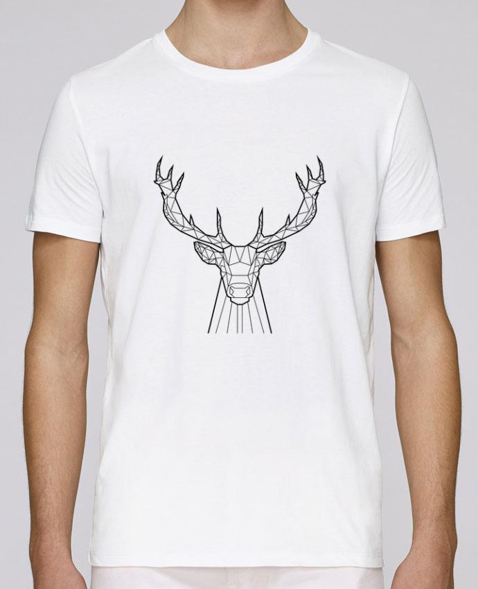 T-Shirt Col Rond Stanley Leads cerf animal prism par Yorkmout