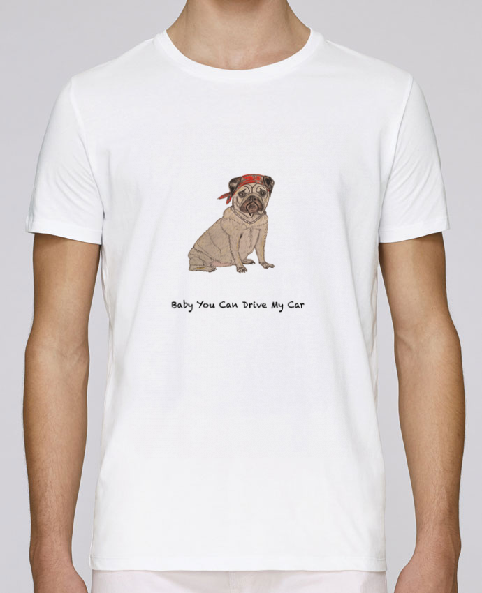 T-Shirt Col Rond Stanley Leads BABY YOU CAN DRIVE MY CAR par La Paloma