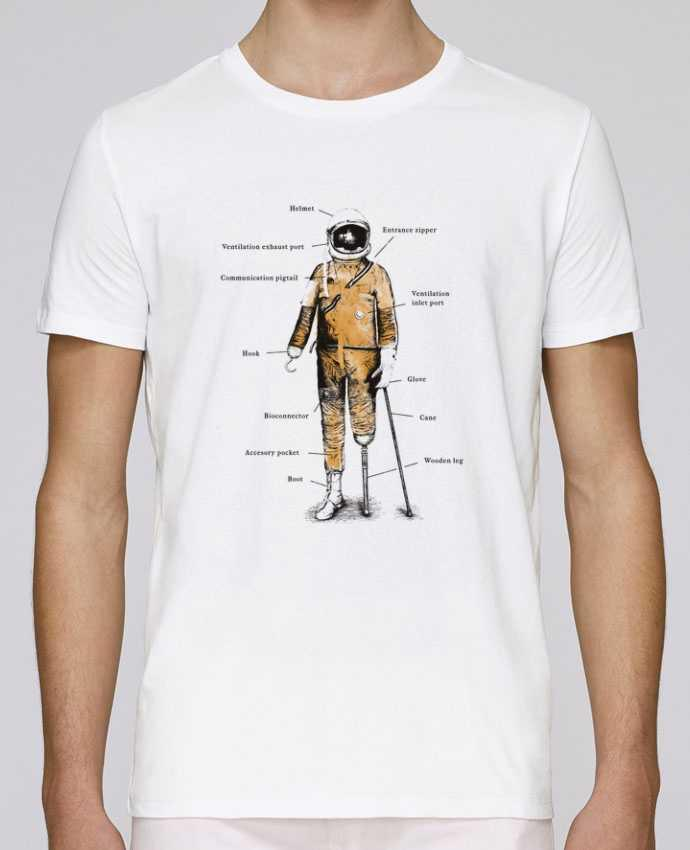T-Shirt Col Rond Stanley Leads Astropirate with text par Florent Bodart