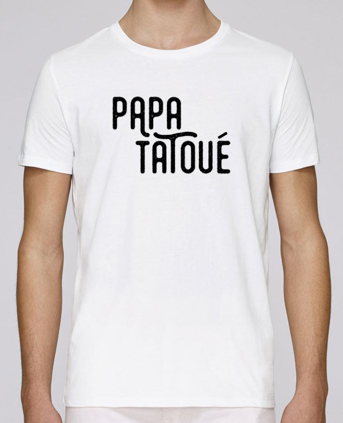 T-Shirt Col Rond Stanley Leads Papa Tatoué par tunetoo
