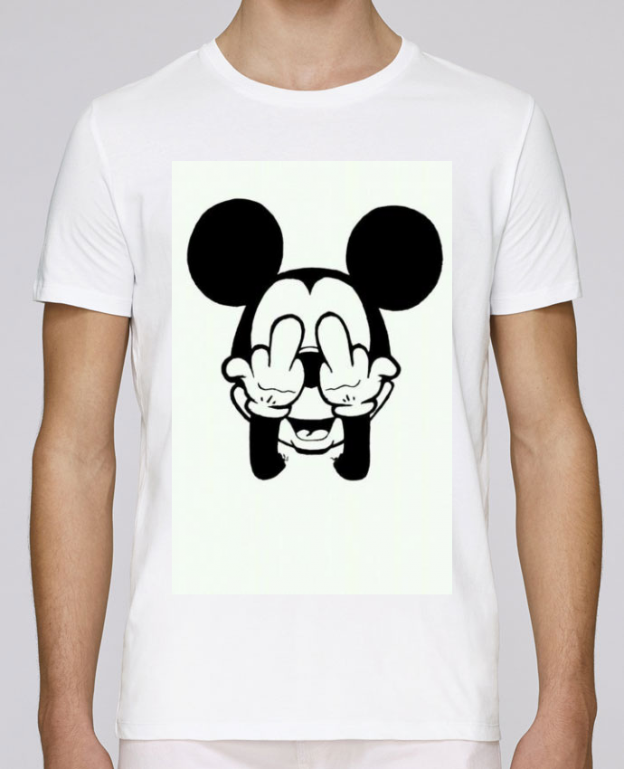 T-Shirt Col Rond Stanley Leads Vetement mickey doigt d