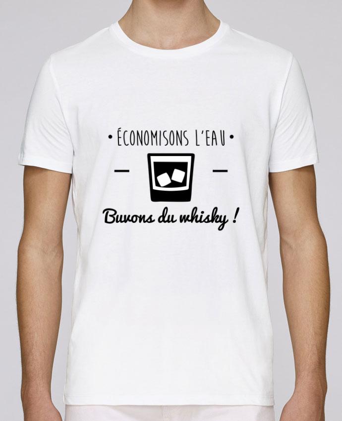 T-Shirt Col Rond Stanley Leads Economisons l'eau, buvons du whisky, humour,dicton par Benichan