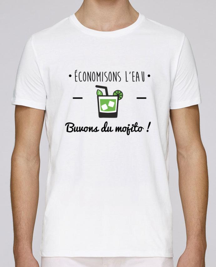 T-Shirt Col Rond Stanley Leads Économisons l'eau, buvons du mojito ! Humour , alcool , citations par Benichan