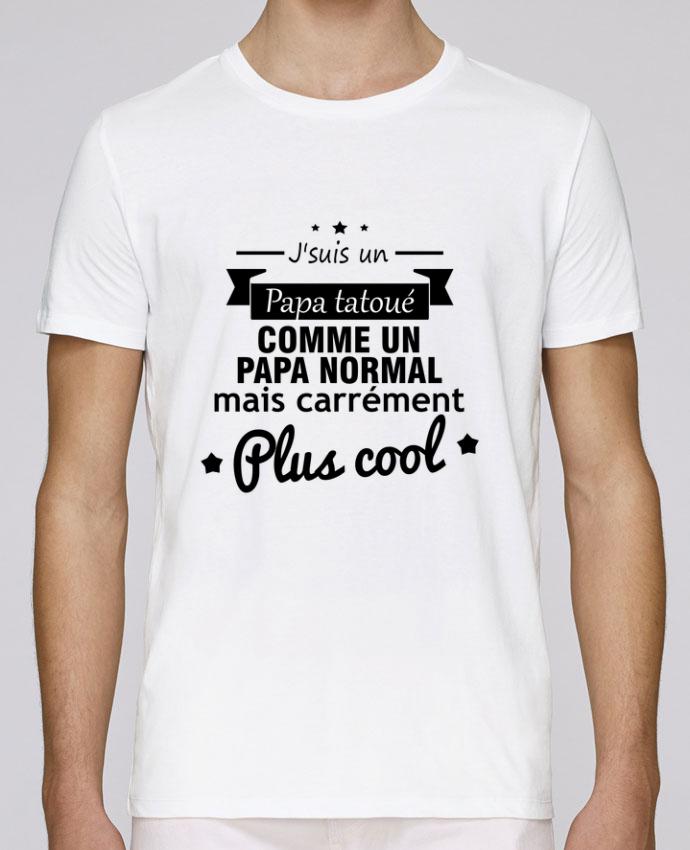 T-Shirt Col Rond Stanley Leads Papa tatoué , cadeau père , tatouage par Benichan