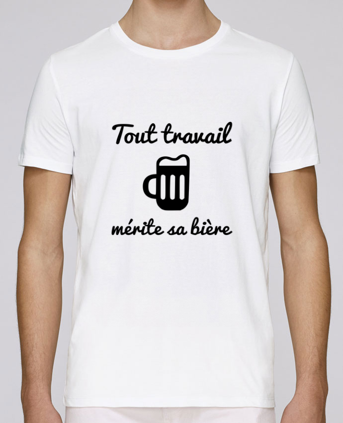 T-Shirt Col Rond Stanley Leads Tout travail mérite sa bière, humour, citations par Benichan