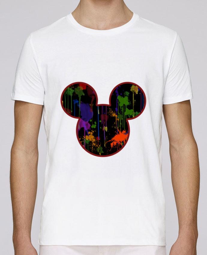 T-Shirt Col Rond Stanley Leads Tete de Mickey version noir par Tasca