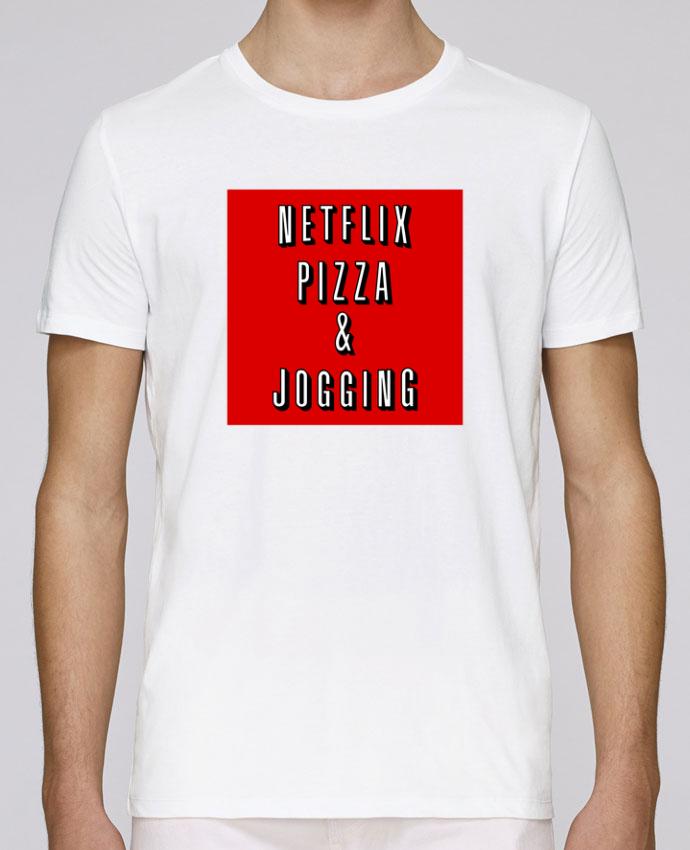 T-Shirt Col Rond Stanley Leads Netflix Pizza & Jogging par WBang