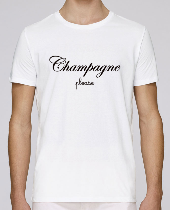 T-Shirt Col Rond Stanley Leads Champagne Please par Freeyourshirt.com