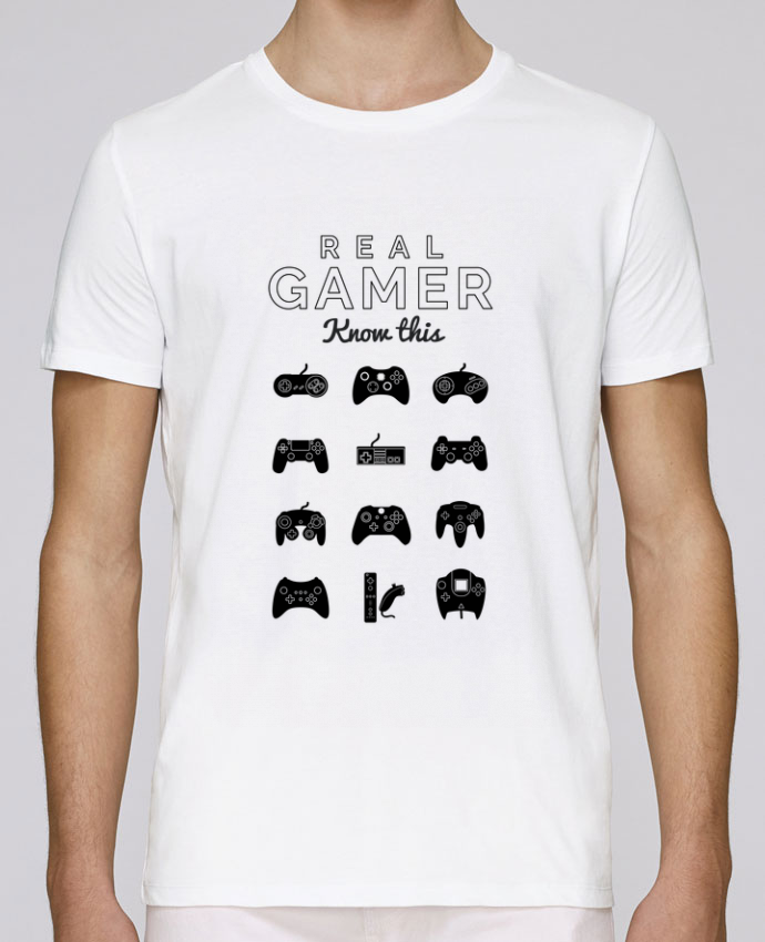 t shirt col rond stanley leads real gamer jeux video tunetoo. Black Bedroom Furniture Sets. Home Design Ideas