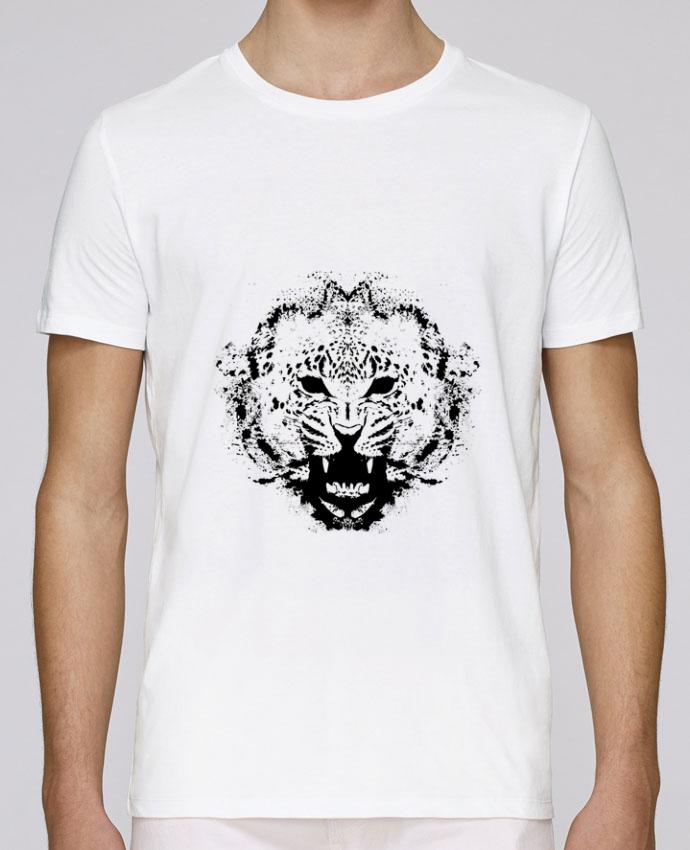 T-Shirt Col Rond Stanley Leads leopard par Graff4Art