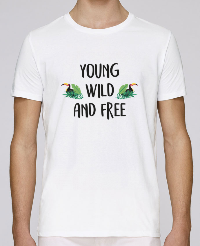 T-Shirt Col Rond Stanley Leads Young, Wild and Free par IDÉ'IN