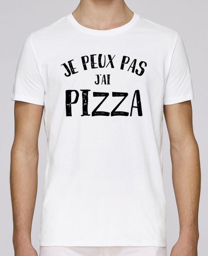 T-Shirt Col Rond Stanley Leads Je peux pas j'ai Pizza par L'Homme Sandwich