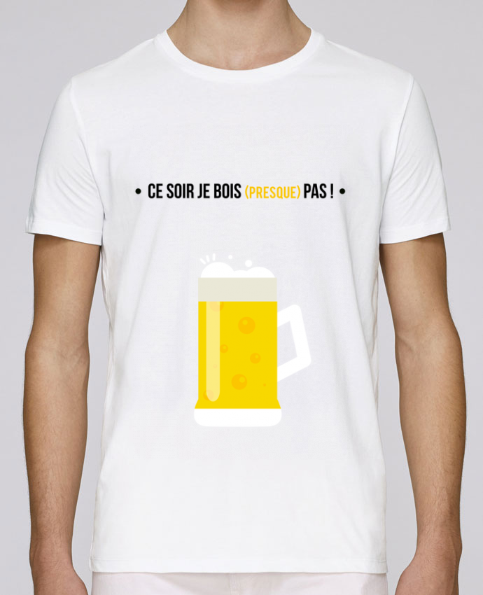 T-Shirt Col Rond Stanley Leads Ce soir je bois (presque) pas ! par MotorWave's