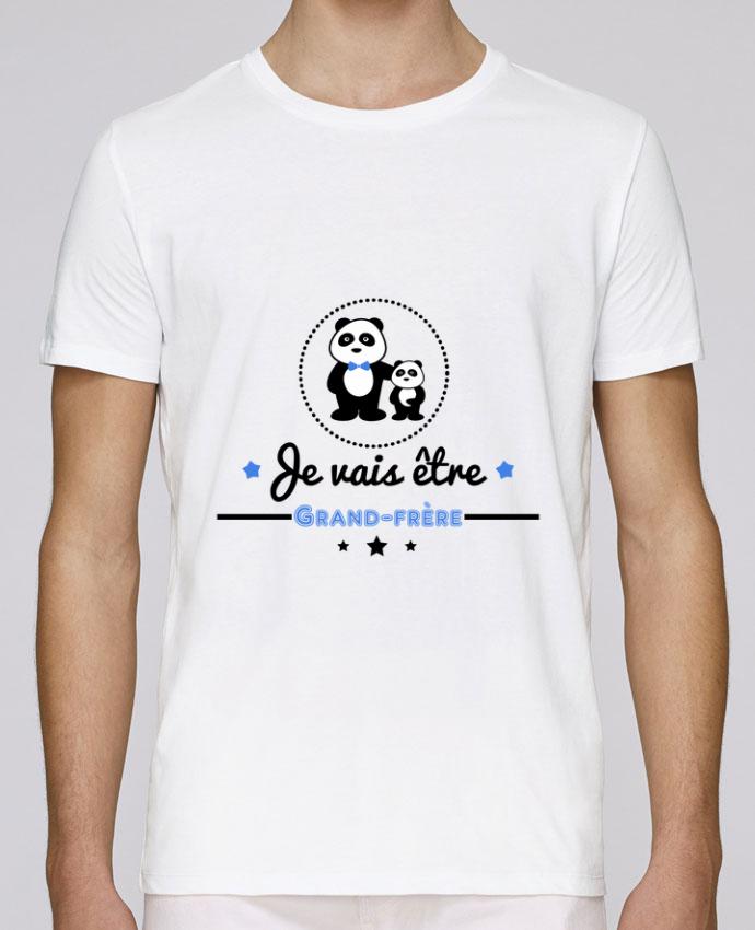 T-Shirt Col Rond Stanley Leads Bientôt grand-frère - futur grand frère par Benichan