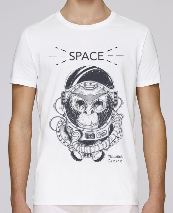 T-Shirt Col Rond Stanley Leads Monkey space par Mauvaise Graine