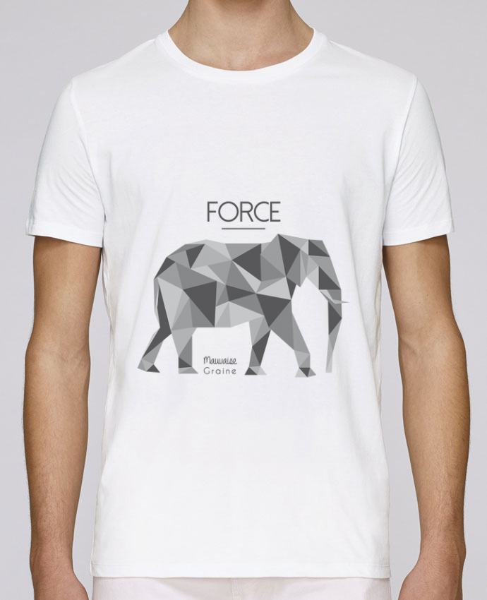 T-Shirt Col Rond Stanley Leads Force elephant origami par Mauvaise Graine