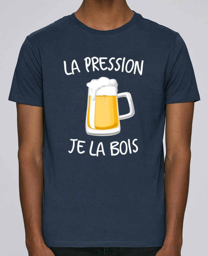 T-Shirt Col Rond Stanley Leads La pression je la bois par FRENCHUP-MAYO