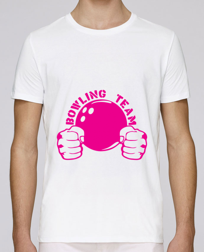 T-Shirt Col Rond Stanley Leads bowling team poing fermer logo club par Achille