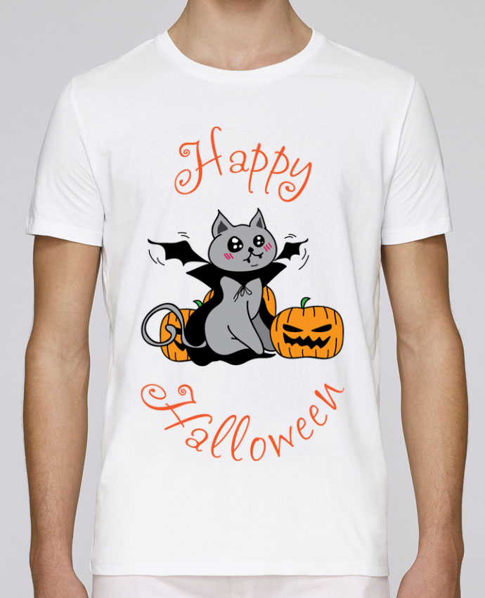 T-Shirt Col Rond Stanley Leads Cut Cat Halloween - Chat vampire par