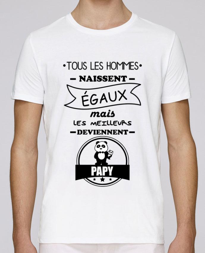 T-Shirt Col Rond Stanley Leads Tous les hommes naissent égaux mais les meilleurs deviennent papy, papi, papis, papys par Be