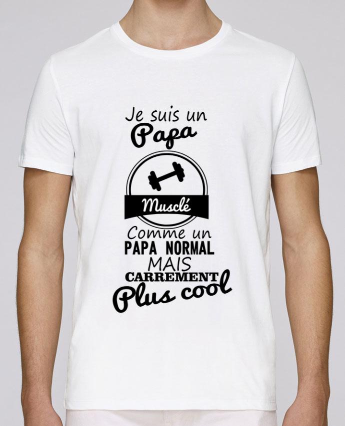 T-Shirt Col Rond Stanley Leads Je suis un papa musclé comme un papa normal mais carrément plus cool par Benichan
