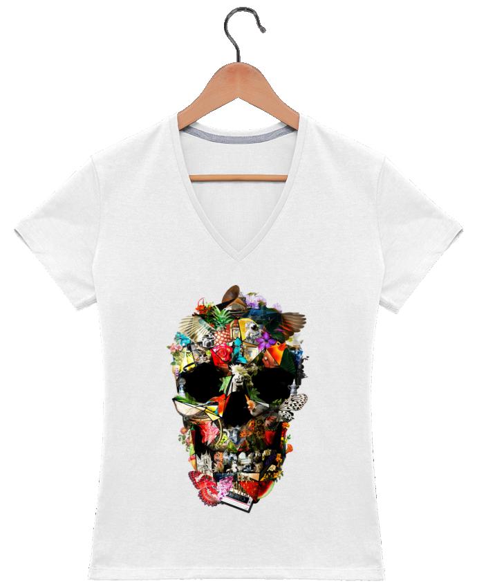 T-shirt Col V Femme 180 gr Fragile par ali_gulec