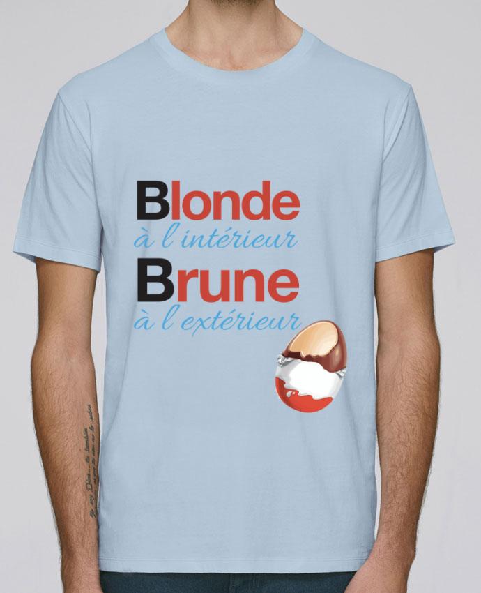 T-Shirt Col Rond Stanley Leads Blonde à l'intérieur / Brune à l'extérieur par Monidentitevisuelle
