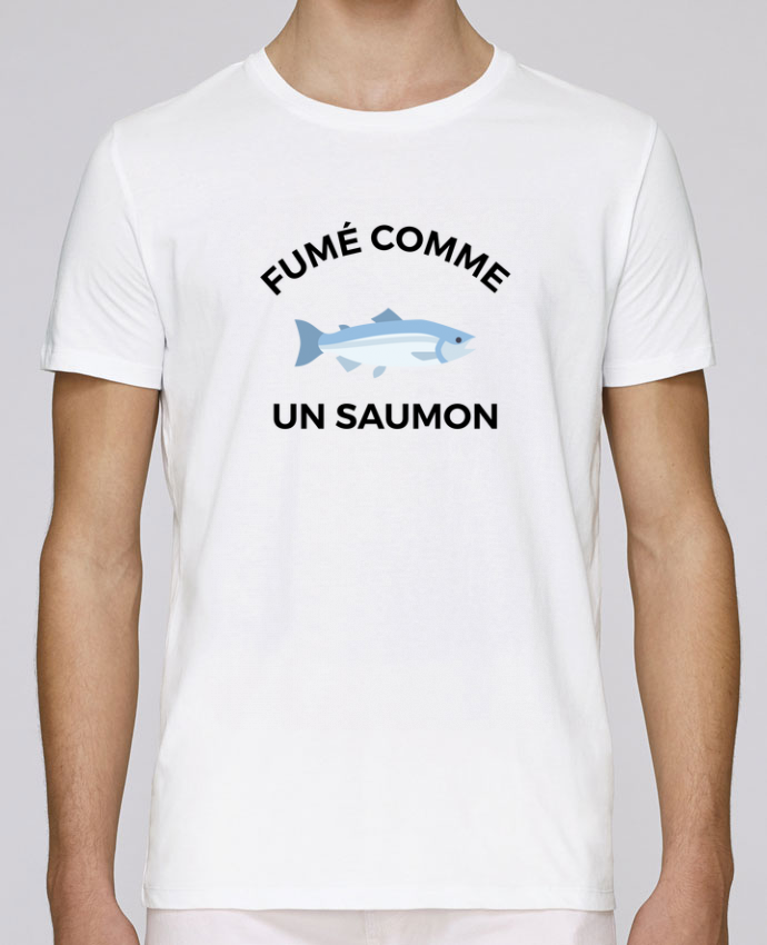 T-Shirt Col Rond Stanley Leads fumé comme un saumon par Ruuud