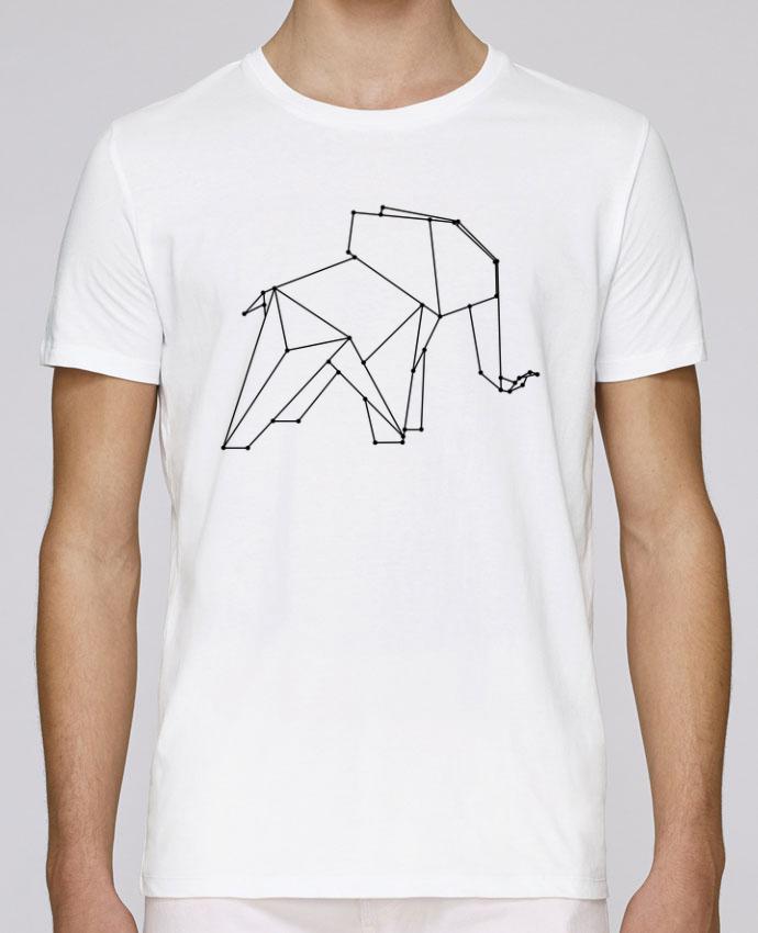 T-Shirt Col Rond Stanley Leads Origami elephant par /wait-design