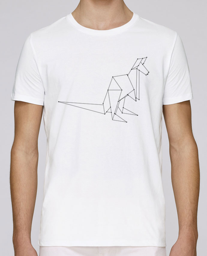 T-Shirt Col Rond Stanley Leads Origami kangourou par /wait-design
