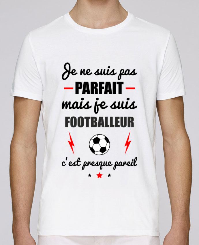 T-Shirt Col Rond Stanley Leads Je ne suis pas parfait mais je suis footballeur c'est presque pareil par Benichan