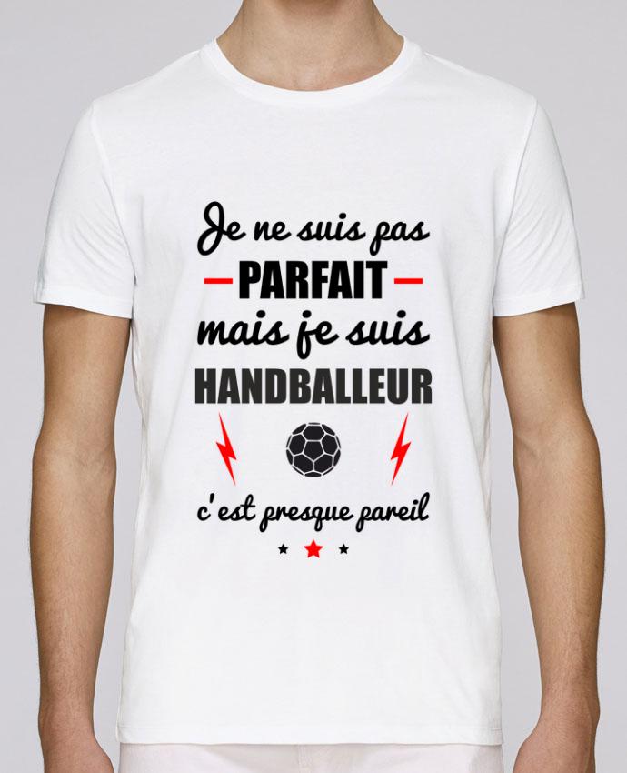 T-Shirt Col Rond Stanley Leads Je ne suis pas parfait mais je suis handballeur c'est presque pareil par Benichan