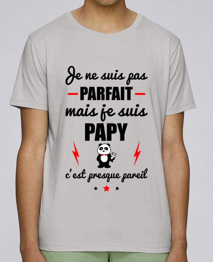 T-Shirt Col Rond Stanley Leads Je ne suis pas parfait mais je suis papy c'est presque pareil par Benichan