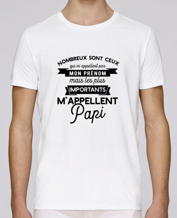 T-Shirt Col Rond Stanley Leads on m'appelle papi humour par Original t-shirt