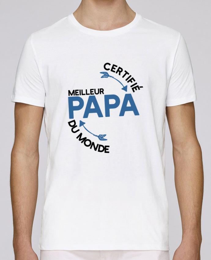T-Shirt Col Rond Stanley Leads Certifié meilleur papa cadeau par Original t- shirt 938201640dba