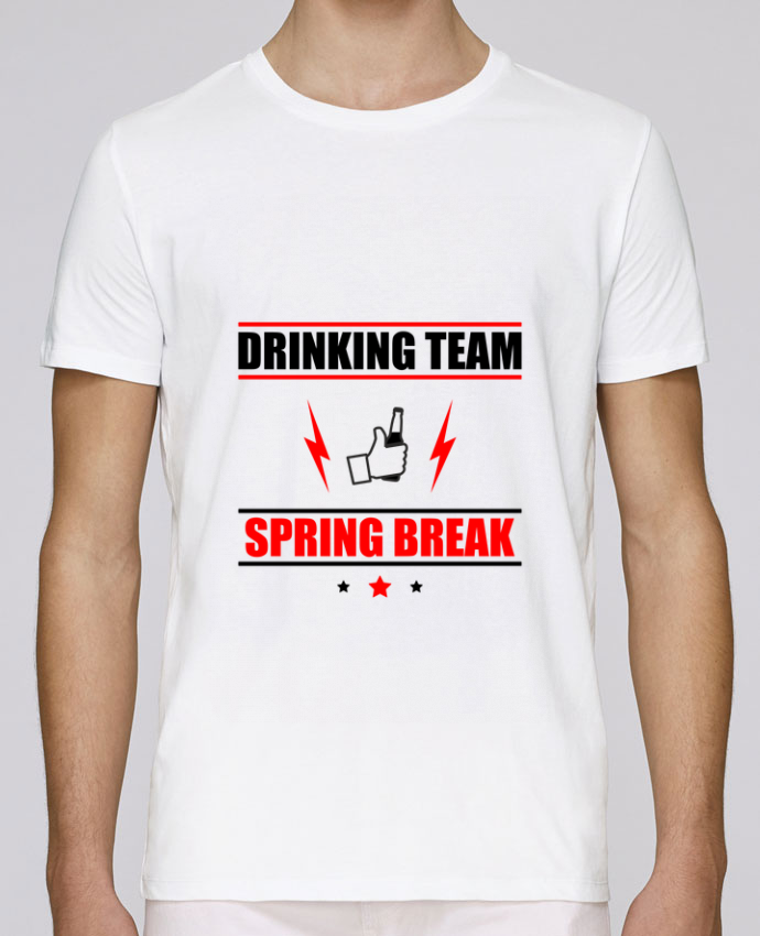 T-Shirt Col Rond Stanley Leads Drinking Team Spring Break par Benichan