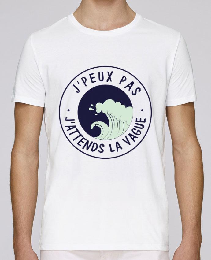 T-Shirt Col Rond Stanley Leads Je peux pas j'attends la vague par FRENCHUP-MAYO