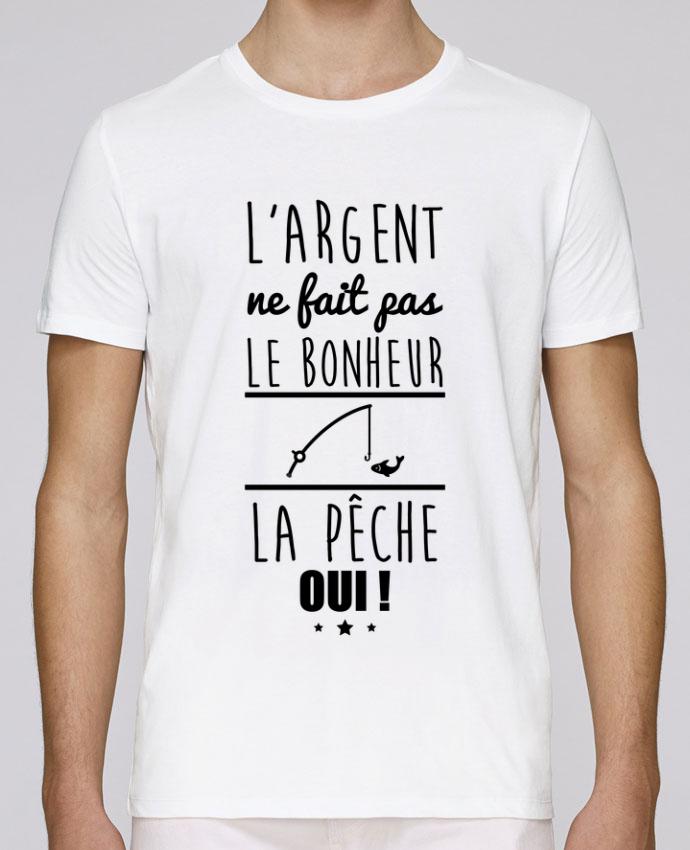 T-Shirt Col Rond Stanley Leads L'argent ne fait pas le bonheur la pêche oui ! par Benichan