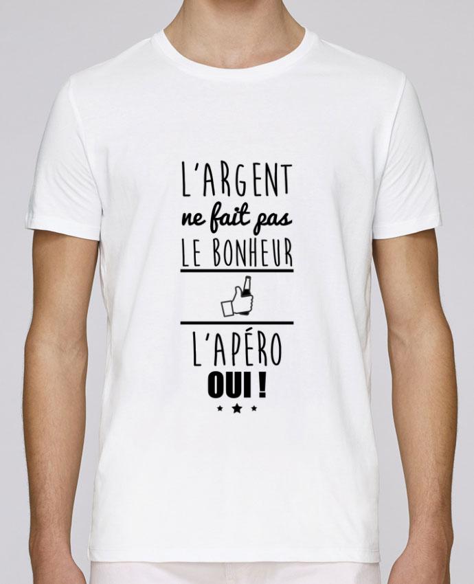T-Shirt Col Rond Stanley Leads L'argent ne fait pas le bonheur l'apéro oui ! par Benichan