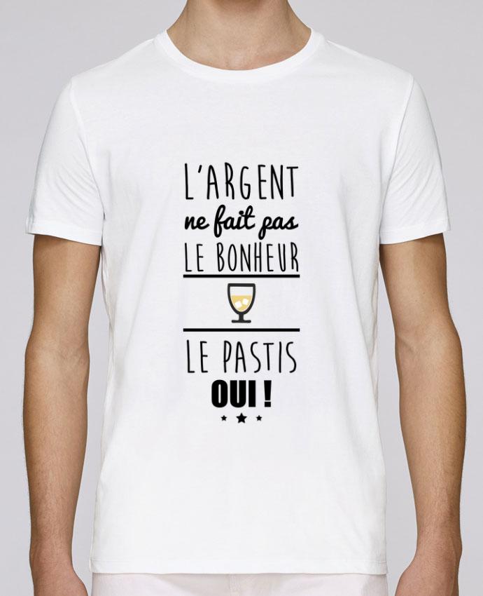 T-Shirt Col Rond Stanley Leads L'argent ne fait pas le bonheur le pastis oui ! par Benichan