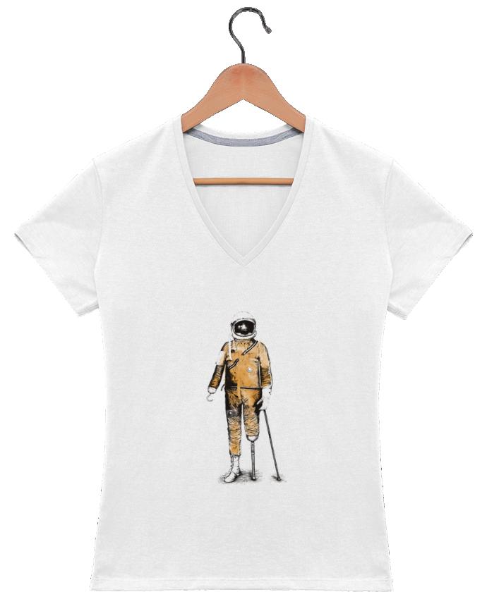 T-shirt Col V Femme 180 gr Astropirate par Florent Bodart
