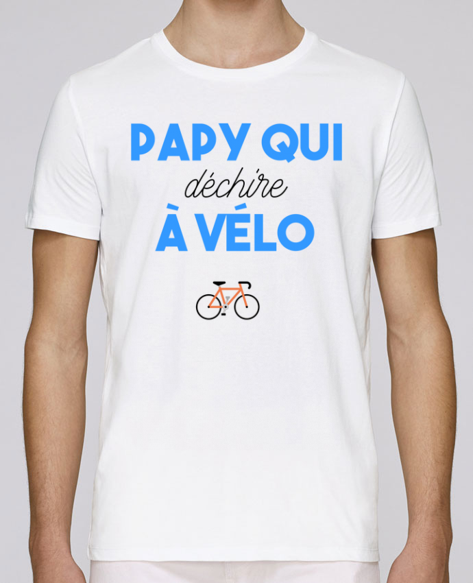 T-Shirt Col Rond Stanley Leads Papy qui déchire à Vélo par tunetoo