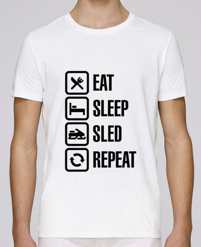 T-Shirt Col Rond Stanley Leads Eat, sleep, sled, repeat par LaundryFactory