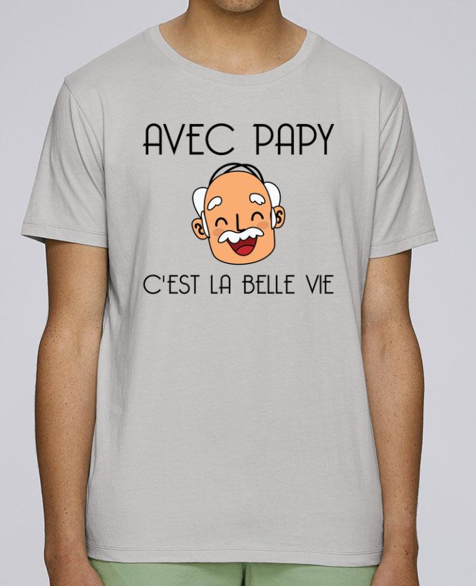 T-Shirt Col Rond Stanley Leads Avec papy c'est la belle vie ! par tunetoo