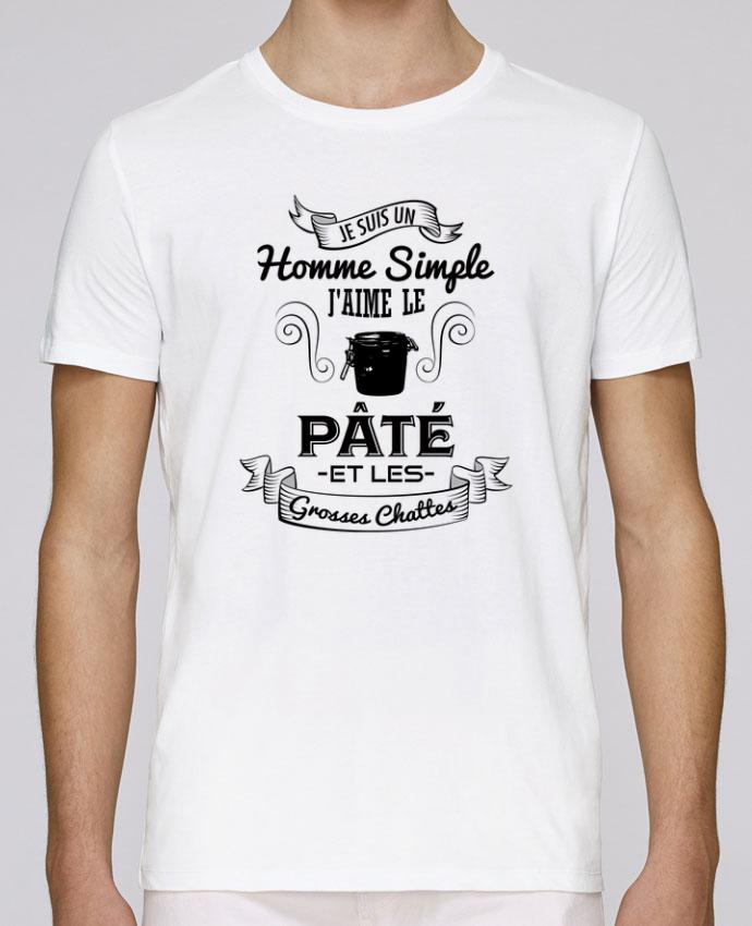 T-Shirt Col Rond Stanley Leads Je suis un homme simple, j'aime le pâté et les grosses chates par tunetoo