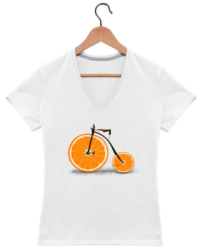 T-shirt Col V Femme 180 gr Vitamin par Florent Bodart